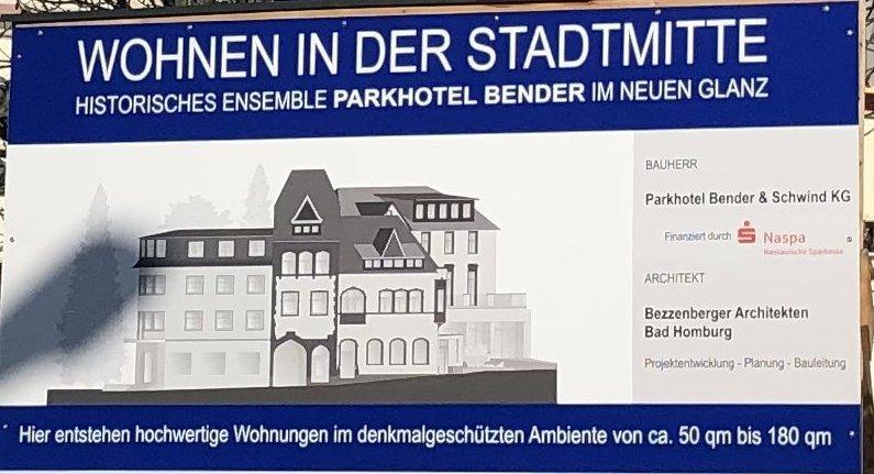 Parkhotel Bender - Rohbauarbeiten, Einbau Aufzugsschacht, Zisterne unter dem Gebäude, Erneuerung der Abwasserleitungen